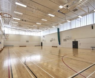 Stranmillis College basketball court