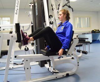 the gym at Stranmillis college